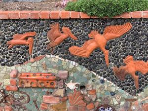 Del Mar Library Mosaic Mural Wall Shines Again
