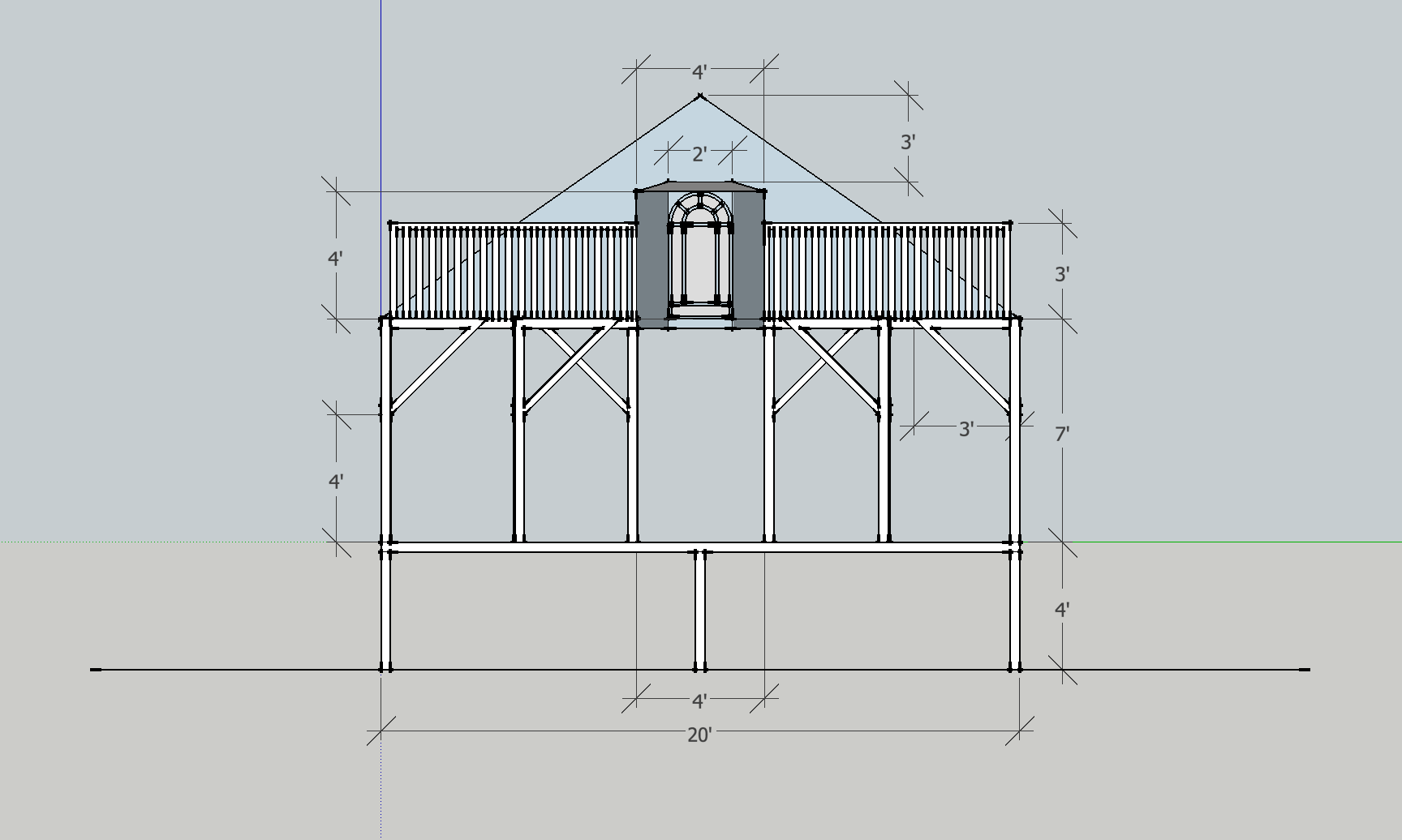 Attic - Front Elevation