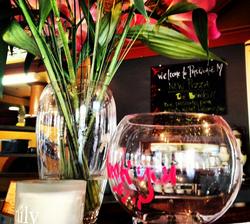 View through a glass