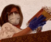 Margie with masks.JPG
