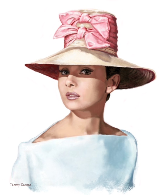 Portrait of Audrey Hepburn