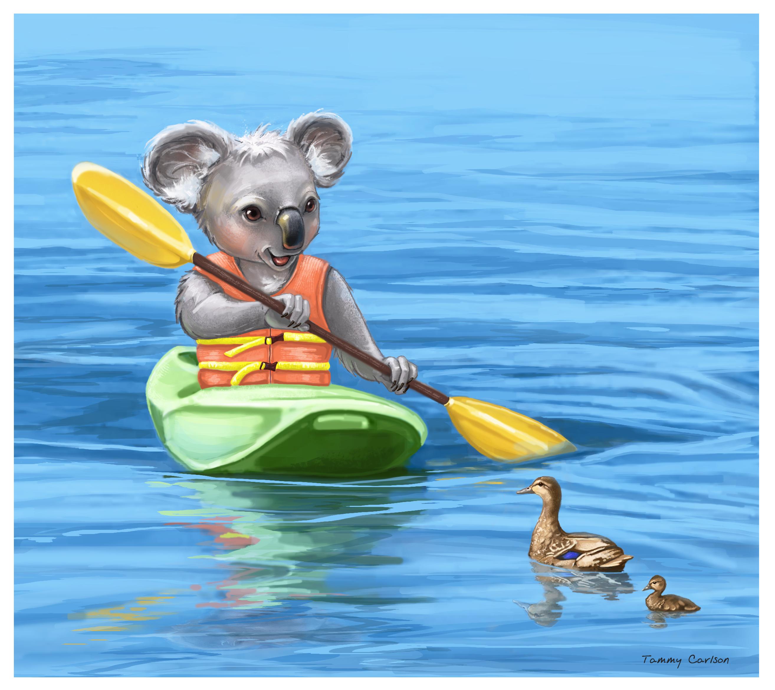Kayaking Koala