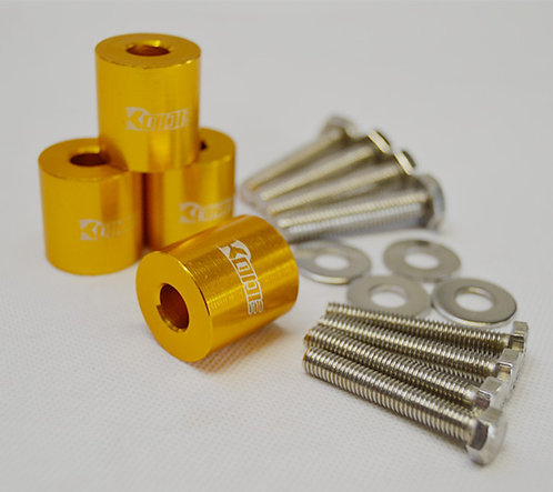 KODE Anodise Bonnet Hood Spacers-GOLD