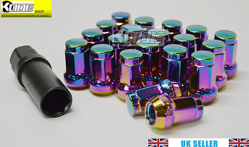 12 x 1.5 Hex Wheel nuts Steel-NEO CHROME