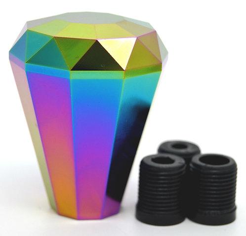 Kode Shop-Neo Chrome Diamond Shape Billet Gear Knob Screw On Fitment 70mm