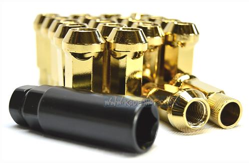 1.5 Long Steel Wheel Lug Nut-Gold