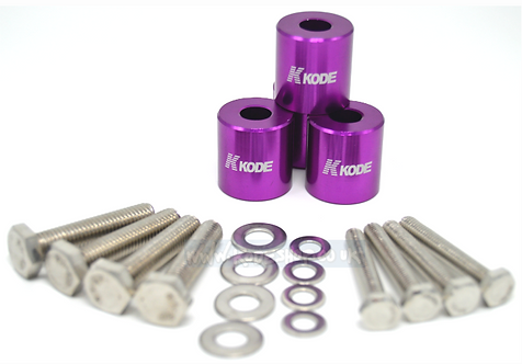 KODE Anodise Bonnet Hood Spacers-PURPLE