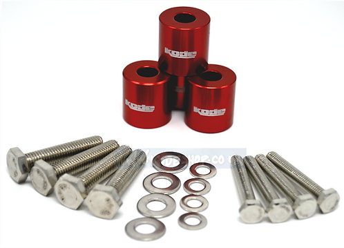 KODE Anodise Bonnet Hood Spacers-Red