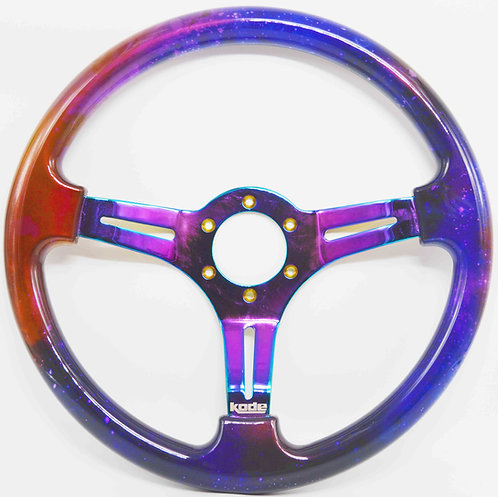 Kode-350mm Flat Dish Retro Galaxy ABS with Neo Chrome Centre