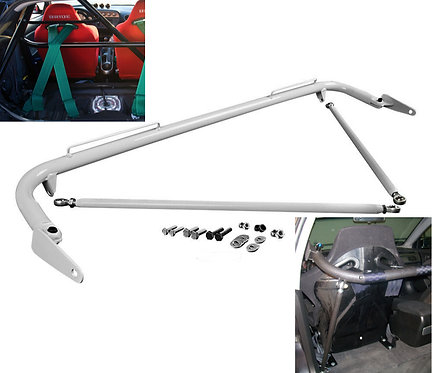 Kode Shop-Universal White Harness Bar Safety Track Day Street Bucket Seat