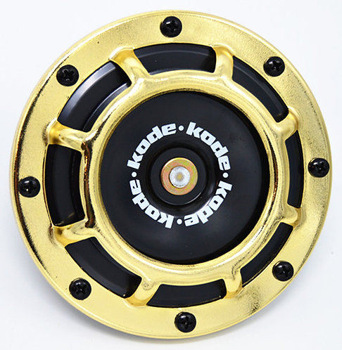 A Pair Universal 12V 5 Compact Super Tone Loud Blast Grill Mount Horn Gold