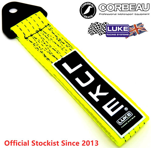 LUKE Tow Strap Towing Eye Pull Hook Drift Track Race Competition-Flu. Yellow