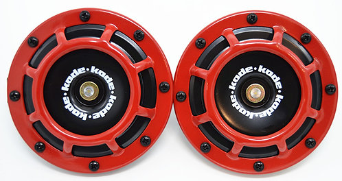 A Pair Universal 12V 5 Compact Super Tone Loud Blast Grill Mount Horn Red