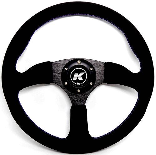KODE Leather Steering Wheel Half Dish Purple stitch