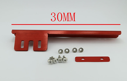 Universal JDM Front Adjustable License No. Plate Tilt Bracket-Red