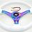Thumbnail: Kode-350mm Flat Dish Retro ABS Steering Wheel Neo Chrome Fits MOMO OMP Boss