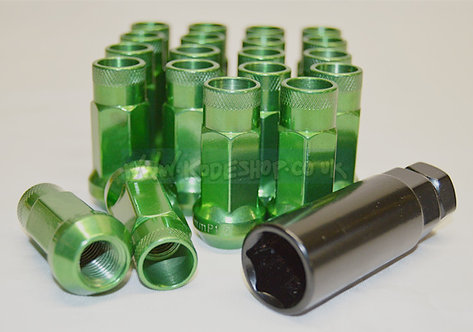 1.5 Extended Long Steel Wheel Lug Nut-GREEN
