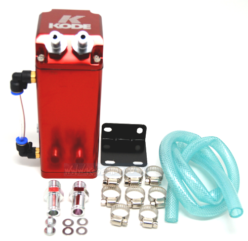 Universal Square Oil Catch Tank Breather -Red