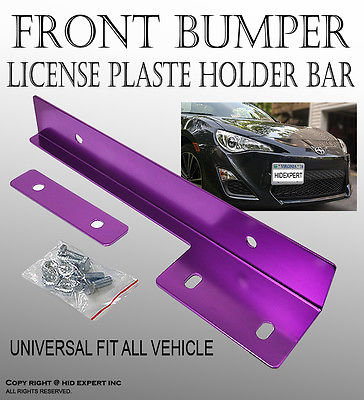 Universal JDM Front Adjustable License No. Plate Tilt Bracket-Purple