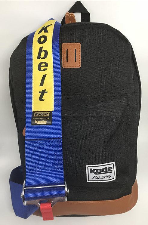 Backpack Kobelt Racing Harness Seat Belt Black with Blue Strap Not Bri