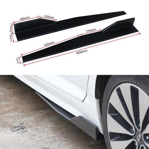Kode Shop-Universal ABS Side Skirt Extension Blades Splitter 86cm In Black