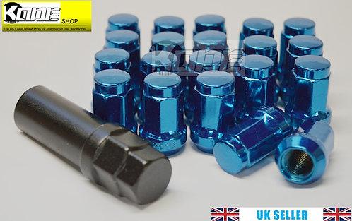 12 x 1.25 Hex Wheel nuts Steel-BLUE