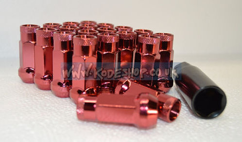 1.5 Extended Long Steel Wheel Lug Nut-RED