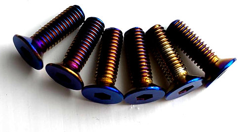 6pcs of TI Effected Bolts for Steering wheel