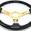 Thumbnail: Kode-350mm Flat Dish Retro ABS Steering Wheel Gold Center Fits MOMO OM