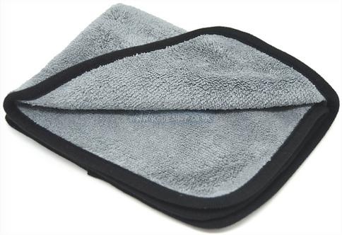 4pcs of Grey Microfibre Cloth Cleaning Towel Polish Car Bike Care 30x40cm