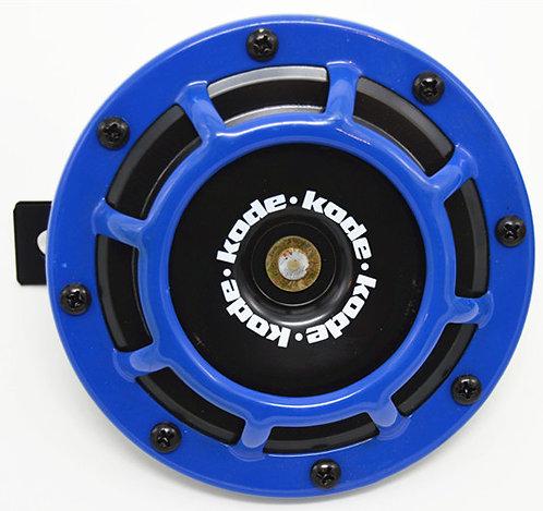 A Pair Universal 12V 5 Compact Super Tone Loud Blast Grill Mount Horn Blue