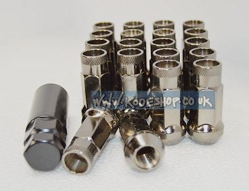 1.25 Extended Long Steel Wheel Lug Nut-GREY