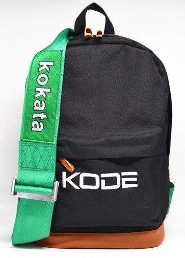 Backpack Kokata Racing Harness Seat Belt Black with Green Strap Not Bri