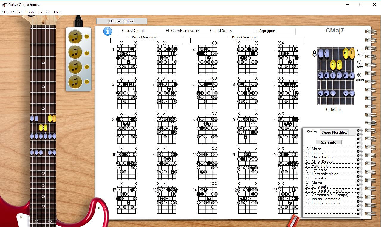 Guitar chord and scale software