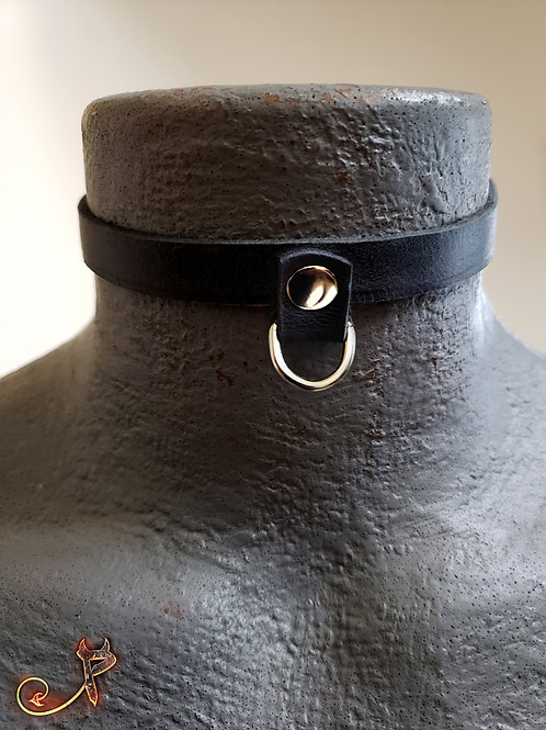 Single D-ring Day Collar - Small