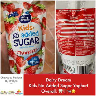 Chewsday Review- Dairy Dream Kids No Added Sugar Yogurt