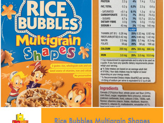 Chewsday Review- Kellogg's Rice Bubbles Multigrain Shapes