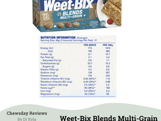 Chewsday Review- Weet-Bix Blends Multi-Grain