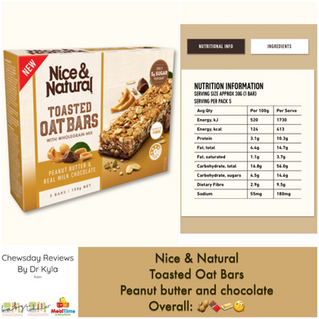 Chewsday Review- Nice & Natural Toasted Oat Bars