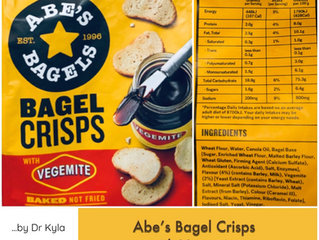 Chewsday Review- Abe's Bagel Crisps with Vegemite