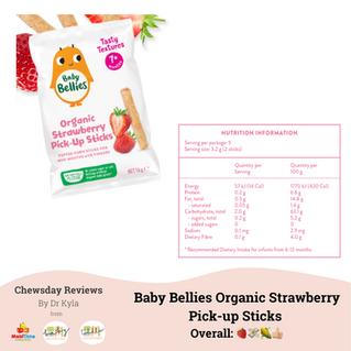 Chewsday Review - Baby Bellies Organic Strawberry Pick Up Sticks