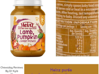 Chewsday Review- Heinz baby food jar lamb, pumpkin and sweet potato