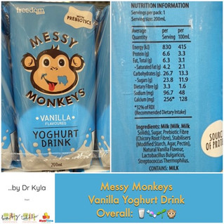 Chewsday Review- Messy Monkeys Yoghurt Drink