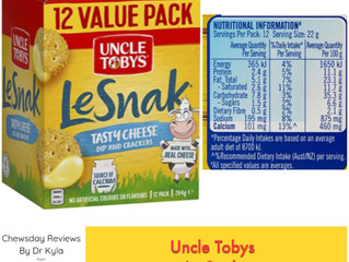 Chewsday Review- Uncle Tobys LeSnak Tasty Cheese