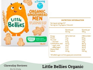 Chewsday Review- Little Bellies Organic Gingerbread Men