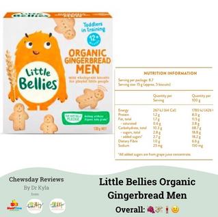Chewsday Review- Little Bellies Organic Gingerbread Men