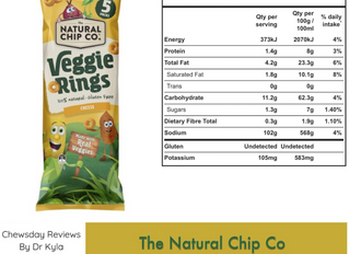 Chewsday Review- The Natural Chip Co Veggie Ring Cheese Snacks