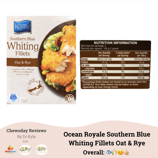 Chewsday Review- Ocean Royale Southern Blue Whiting Fillets Oat & Rye