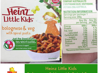 Chewsday Review- Heinz Little Kids Bolognese & Veg with Spiral Pasta