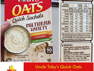 Chewsday Review- Uncle Toby's Quick Oats
